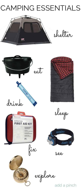Camping Essentials | ©addapinch.com