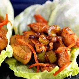 Chicken Lettuce Wraps | ©addapinch.com