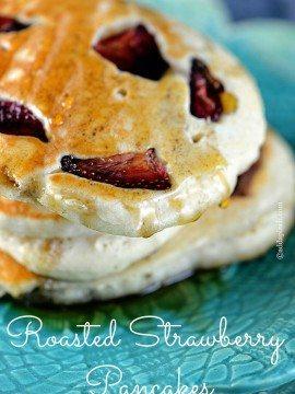 Roasted Strawberry Pancakes Recipe