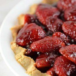 Strawberry Pie Recipe | ©addapinch.com