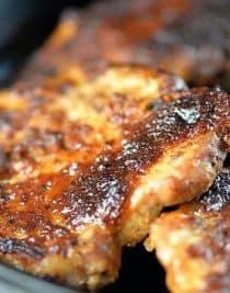 Pork Chops Recipe from addapinch.com