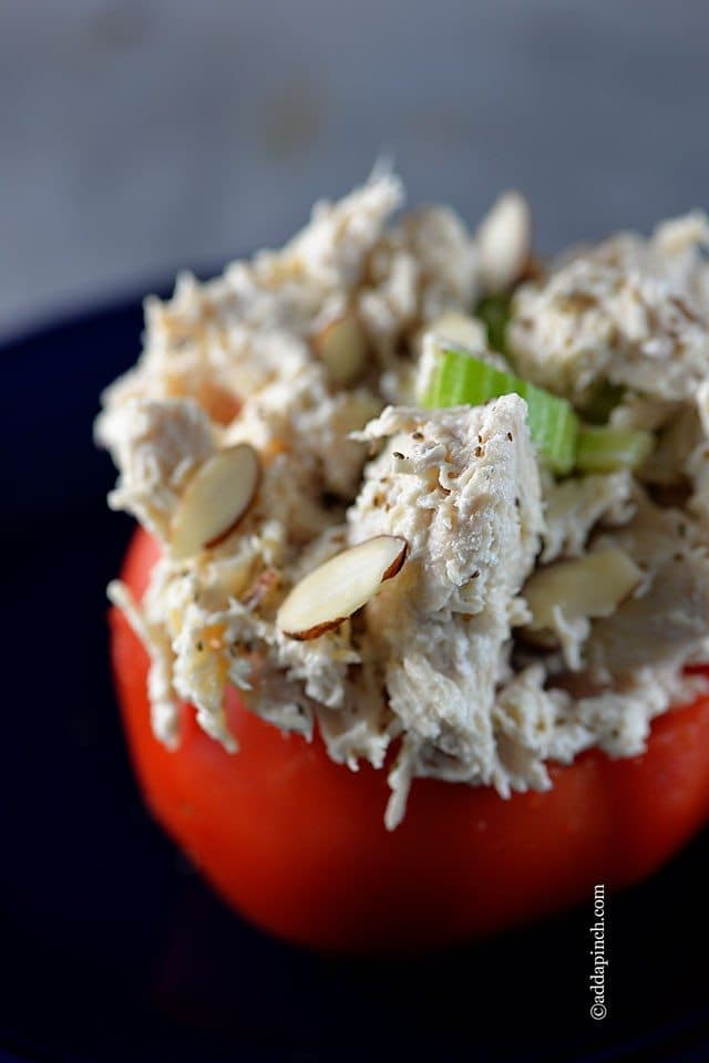 Chicken Salad Stuffed Tomatoes Recipe Add A Pinch