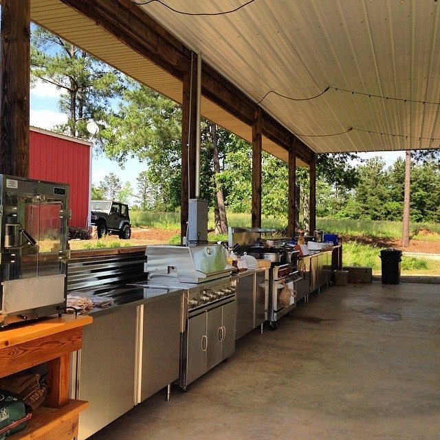 Party Barn Kitchen from addapinch.com