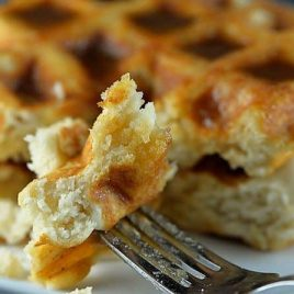 Salted Caramel Waffle Recipe from addapinch.com