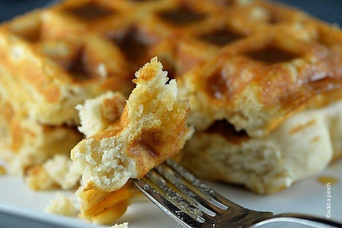 Salted Caramel Waffles Recipe - Add a Pinch