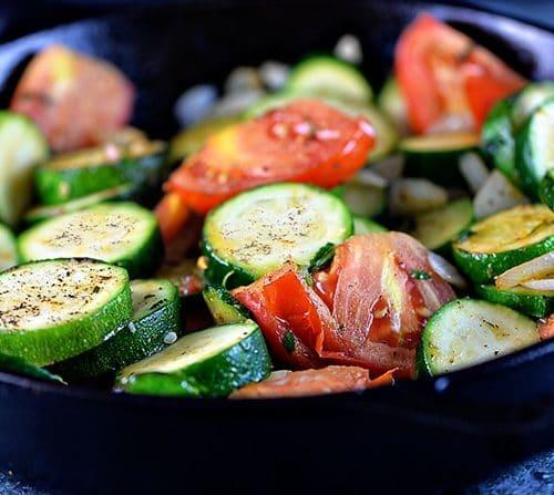 Skillet zucchini recipe add a pinch forumfinder Choice Image