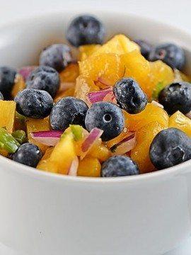 Blueberry Peach Salsa Recipe