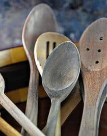 How to Care for Wooden Spoons from addapinch.com