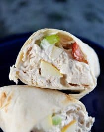Chicken Salad Wrap Recipe from addapinch.com