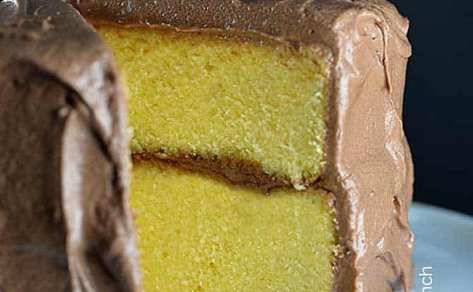Classic Yellow Cake Recipe from addapinch.com