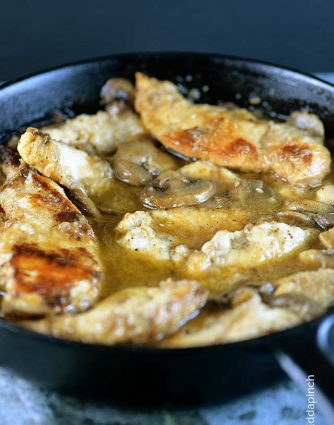 Chicken Marsala Recipe from addapinch.com