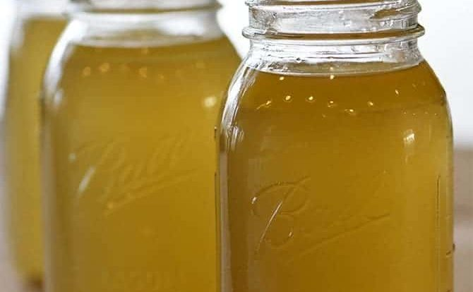 Homemade Chicken Stock Recipe - Learn how to make homemade chicken stock in just a few easy steps! // addapinch.com