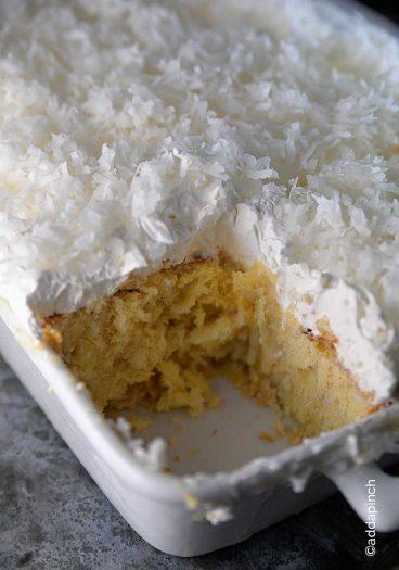 Coconut Cake Recipe from addapinch.com