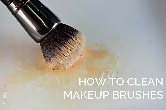 How to Clean Makeup Brushes from addapinch.com