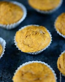 Pumpkin Muffins Recipe from addapinch.com