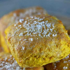 Sweet Pumpkin Biscuits Recipe from addapinch.com