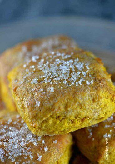 Sweet Pumpkin Biscuits Recipe from addapinch.com
