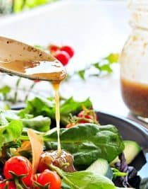 Bacon Vinaigrette combines that tangy flavor you expect from a vinaigrette with the smokey flavor of the bacon. It will quickly become a favorite.
