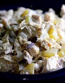 Chicken Salad with Pickles Recipe from addapinch.com