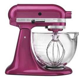 Raspberry Ice Stand Mixer from addapinch.com