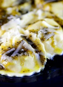 Ravioli with Pesto Sauce Recipe