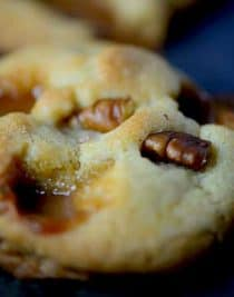 Salted Caramel Pecan Cookie Recipe from addapinch.com