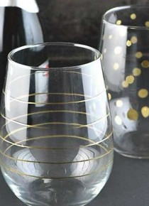 DIY Gold Accented Glasses