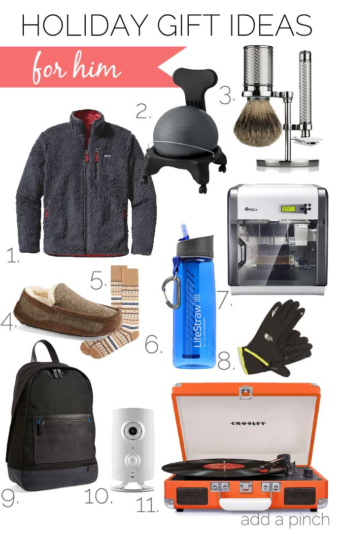 Holiday Gift Ideas for Him 2014 from addapinch.com