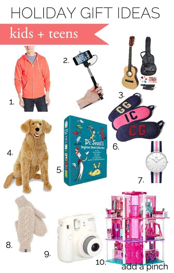 Gift ideas for kids and teens add a pinch for Gift with purchase ideas