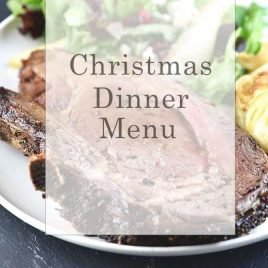 Christmas Dinner Menu from addapinch.com