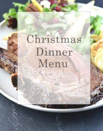 Christmas Dinner Menu from addapinch.com