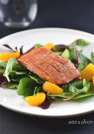 Salmon Salad Recipe from addapinch.com
