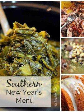 Southern New Year's Menu