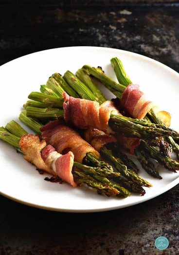 Bacon Wrapped Asparagus Recipe from addapinch.com