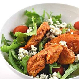 Buffalo Chicken Salad Recipe from addapinch.com