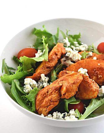 Buffalo Chicken Salad Recipe from addapinch.com
