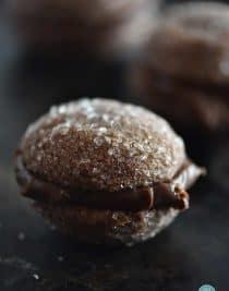 Chocolate Ganache Cookie Recipe from addapinch.com