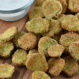 Fried Dill Pickles Recipe from addapinch.com