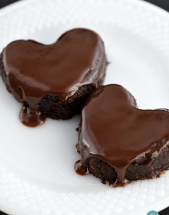 Chocolate Cake Hearts Recipe from addapinch.com