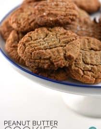 Flourless Peanut Butter Cookies Recipe from addapinch.com
