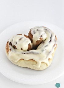 Heart Cinnamon Rolls Recipe