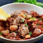Slow Cooker Peppercorn Garlic Pork Cassoulet Recipe