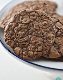 Triple Chocolate Cookies Recipe from addapinch.com