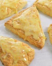 Citrus Scones Recipe with Orange Glaze from addapinch.com