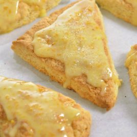 Citrus Scones Recipe with Orange Glaze from addapinch.com