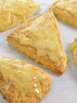 Citrus Scones with Orange Glaze