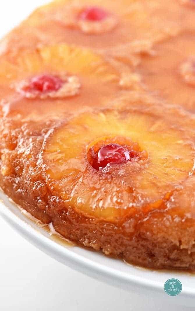 Pineapple Upside Down Cake Recipe - Add a Pinch