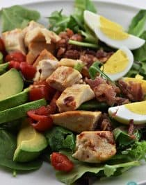 Roast Chicken Cobb Salad from addapinch.com