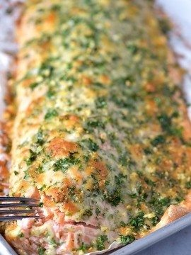 Baked Salmon with Parmesan Herb Crust Recipe