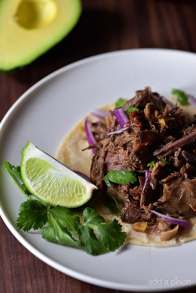 Easy Barbacoa Recipe // addapinch.com
